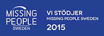 Vi stödjer Missing People Sweden 2015
